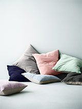 Luxury Cloud Blue Velvet Cushions Online