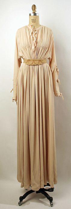 Valentina rayon and wool dinner dress, 1942