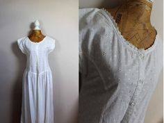 Cute broderie anglaise dress size 12 white by BebopBoutiqueuk