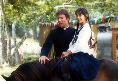 """Richard Chamberlain and Sydney Penny in """"The Thorn Birds"""", 1983 Richard Chamberlain, Sydney Penny, The Thorn Birds Movie, Hollywood Actresses, Actors & Actresses, Bryan Brown, Piper Laurie, Little Dorrit, Rachel Ward"""
