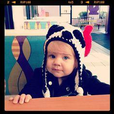 Crochet Panda Hat by TheLovelyyarns on Etsy, $20.00