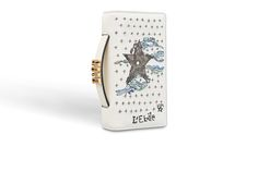 Tarot pouch in off-white lambskin embroidered with the star card - Dior