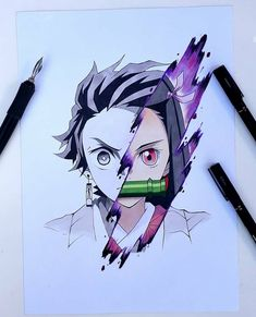 55 Manga And Anime Drawing Styles - Naruto Drawings, Anime Drawings Sketches, Anime Sketch, Otaku Anime, Manga Anime, Anime Art, Anime Character Drawing, Anime Drawing Styles, Demon Slayer