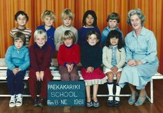 My first year of school. That's me in the front, with the blackboard against my knees. As you can see I'm already well connected. That's Christian Cullen, the famous New Zealand All Black (some years prior to his fame and fortune), sitting beside me.