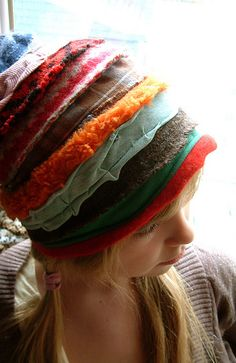 pursuit of happiness: Karna Erickson [Cocoon Designs] Hat Patterns To Sew, Sweater Hat, Makes You Beautiful, Fancy Hairstyles, Spring Is Here, Textiles, Headgear, Beret, Refashion