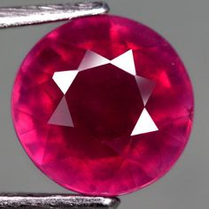 3.94 Ct. Excellent! Natural Ruby Round Facet Top Blood Red Madagascar #Gemnatural