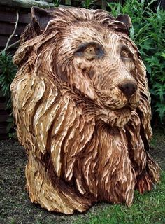 Wood sculptures by Tommy Craggs