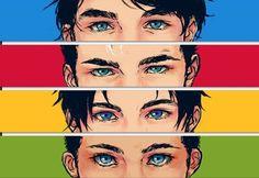 The Robins: Dick Grayson, Jason Todd, Tim Drake, Damian Wayne