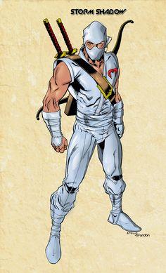 Tommy was one of the cooler Ninja's in Gi Joe. Pencilled by colored by me Storm Shadow Thundercats, Comic Books Art, Comic Art, Snake Eyes Gi Joe, Arte Nerd, Cartoon Clip, Old School Cartoons, Cobra Commander, Storm Shadow