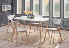 Renata O -ruokailuryhmä, ovaali pöytä + 4 tuolia