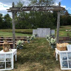 One step closer. Congratulations Chris and Melissa! Tap photo for vendors. #mainewedding #weddingofficiant