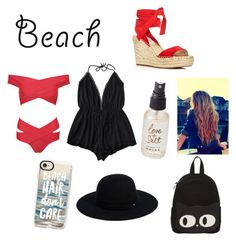 """""""Beach #4"""" by emmagriezmann ❤ liked on Polyvore featuring WithChic, Kenneth Cole, Olivine, Casetify and Siggi"""