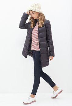 Zippered Puffer Jacket - Forever 21