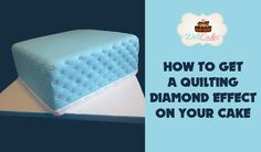 Video tutorial on how to get those beautiful diamond effects on a cake