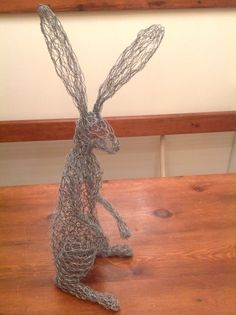 Crouching hare work in progress, needs a coat of paint