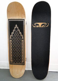 Burqa Board and Prayer Board  sebastian errazuriz has collaborated with NYC artist and musician j. carlton dewoody to create two limited edition skateboards to be exhibited and auctioned for skateistan, afghanistan's first skateboarding school, which engages growing numbers of urban and internally-displaced youth in afghanistan through skateboarding.