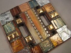 MOSAIC LIGHT SWITCH - Double Switch Plate Cover