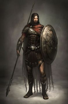 Male Spearman Concept, Atlantica Online, Video Game Artists : Oniou (Geun Ha Hwang), Sando (Byung-hyuck Kim)