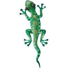 Tropical Rainforest Gecko Lizard Metal Wall Art Decor Green by Regal Art & Gift, http://www.amazon.com/dp/B0097UOP6O/ref=cm_sw_r_pi_dp_-om6rb0J94ZN1