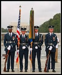 USAF Color Guard at Tomb of the Unknown