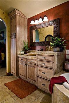 Tuscany Knotty Alder Whitewash with brown glaze