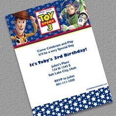 Toy Story 3 Birthday Invitation