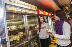 """518 Market, Campus Center: On the run and need a quick meal? Check out the 518 Market's """"Simply to Go"""" section where you can get fresh fruit, salads, parfaits, sandwiches and other delicious options. Everything is pre-packed and ready to go along with you!"""