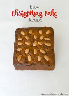 Easy Christmas Cake Recipe - Create Bake Make