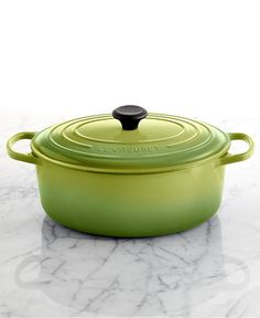 "Another kitchen classic matching the Color of the Year -- Le Creuset Signature Enameled Cast Iron 6.75 Qt. Oval French Oven in ""Palm"""
