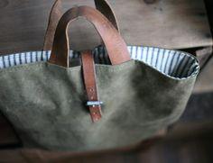 upcycled bag...(jacket and belt)