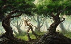 Ents In Fangorn Forest, by Gonzalo Kenny
