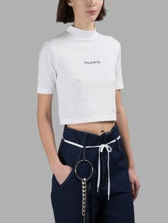 Belt loop accessories (+ cute cropped mockneck).