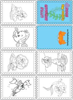 Color Book Little Mermaid, Little Mermaid, Coloring Pages - Free Printable