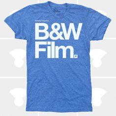 Men's Black & White Film TShirt #mediumcontrol