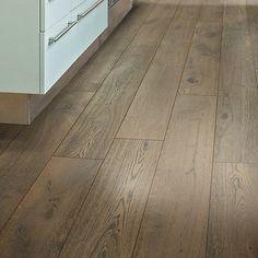 "Shaw Floors Scottsmoor Oak 7.5"" Engineered White Oak Hardwood Flooring in Gray"