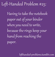 left-handed problems