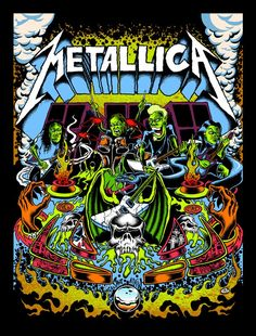Official Metallica Pinball Poster by Dirty Donny