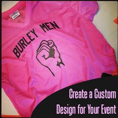 Print your logo on a #footballjersey like this flag football jersey. Unite your team with #pinkjerseys.