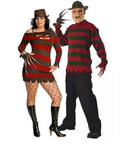 a nightmare on elm street miss freddy kruger plus cheap couples halloween costume for women - Couple Halloween Costumes Scary