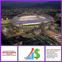 """Brazil stadium building masterpiece - they are using Firestone Ultraply TPO roof membrane.  Every """"Masterpiece"""" marks the attainment of its age and endures as profit, reputation & prosperity. Your investment in Firestone roofing system bringing you faster to your aim.   Firestone endures profit, reputation & prosperity for loong time."""