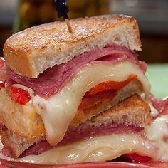 Italian-Antipasto Grilled Cheese