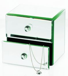 Gift Idea - 2 Drawer Mirrored Jewelry Box.