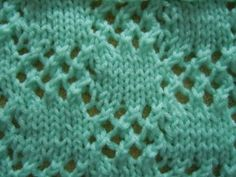 Knitting Stitch Pattern. The patterns at this site are all lace and eyelet styles. Some previous knitting experience is recommended but you do not need to be an expert to successfully complete these patterns.