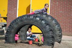Tractorbanden op de Oranje Nassauschool Ede.