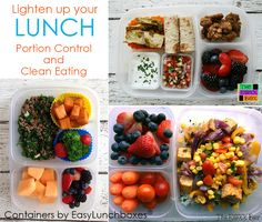 Pack portion controlled lunches with EasyLunchboxes