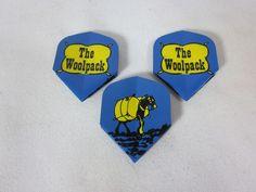 3 Vintage Dart Flights THE WOOLPACK #Unbranded
