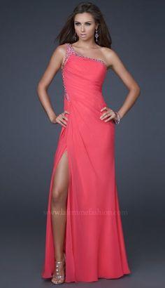 Trumpet/Mermaid One Shoulder Floor Length Chiffon Prom Dress
