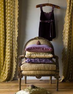 Could these curtains match our lavender walls? Seems very similar... olive purple lilac room