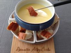 Classic Swiss Fondue:  all this talk of Switzerland in S4 deserves a tribute to fondue.  A super easy meal to make to share with fellow Downton Abbey fans.