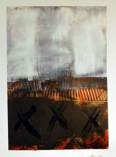 Cold Wax Series by Karen L Darling on Flickr. Works on paper using cold wax, oil, charcoal and other mixed media
